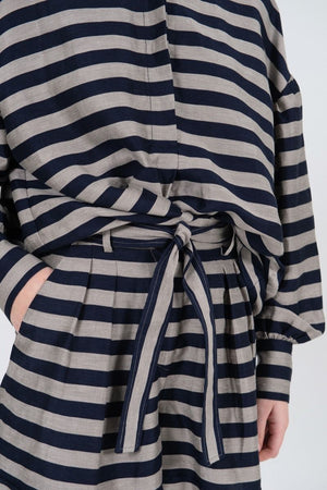 Rebecca Vallance Nautique Long Sleeve Top in Stripe