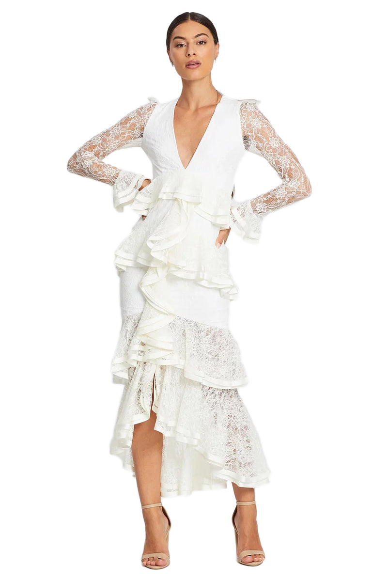 Nicola Finetti Maia Dress in White