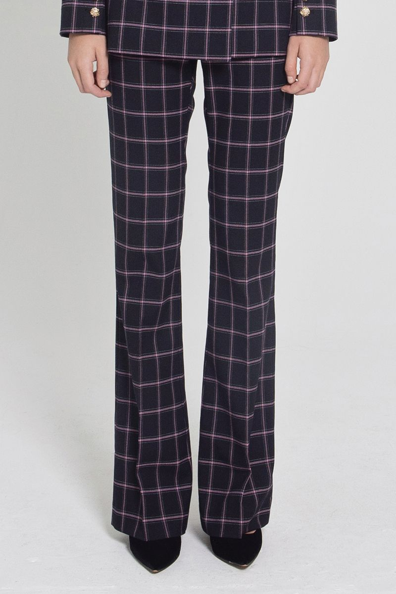 Rebecca Vallance Peta Pant in Black Check