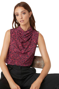Rebecca Vallance Rosette Shell Top in Berry