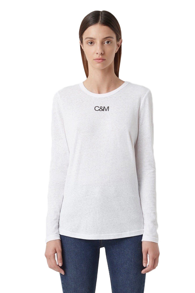 Camilla and Marc Ligero Long Sleeve Tee in White