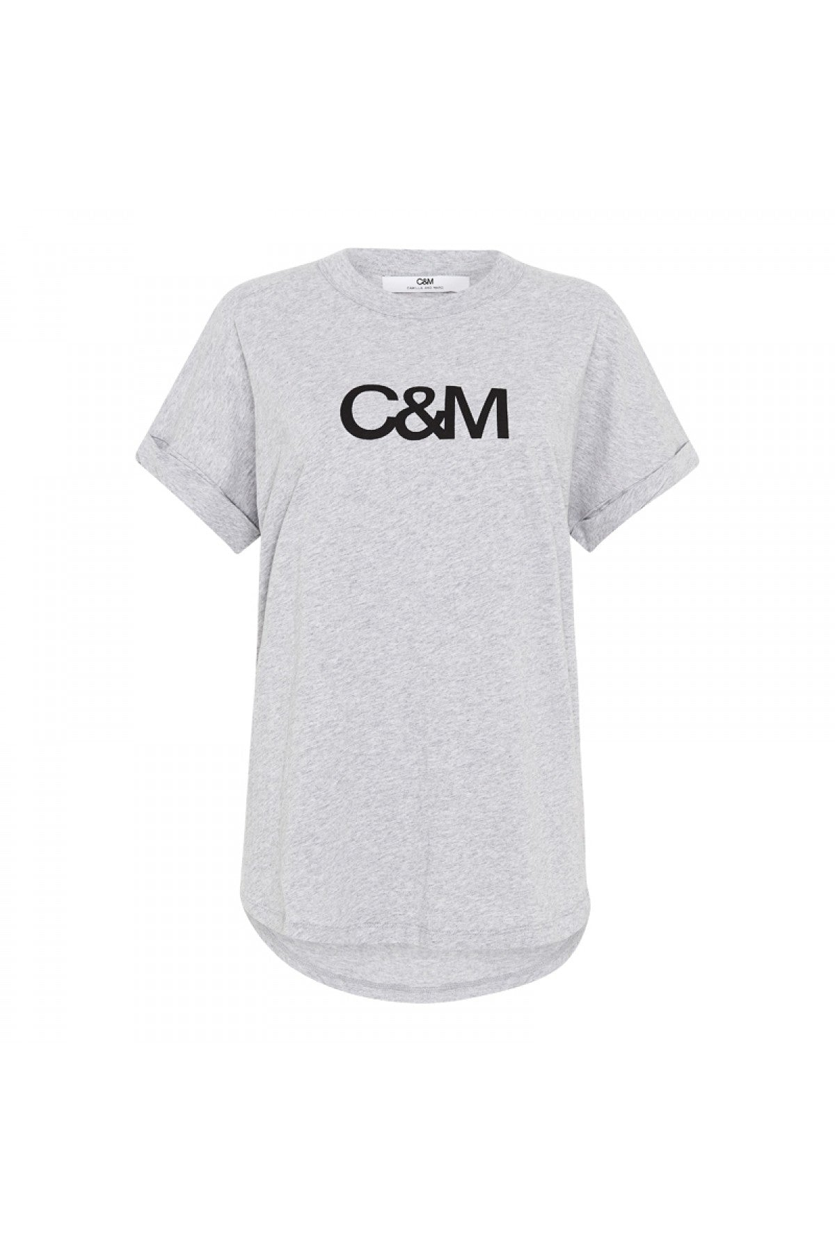 Camilla & Marc Huntington Logo Slub Tee in Grey