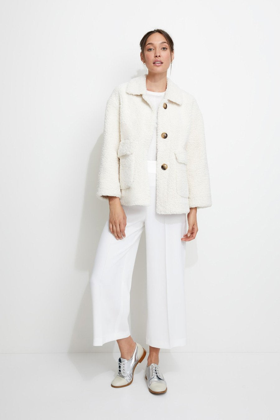 Unreal Fur Seashell Jacket in Ivory
