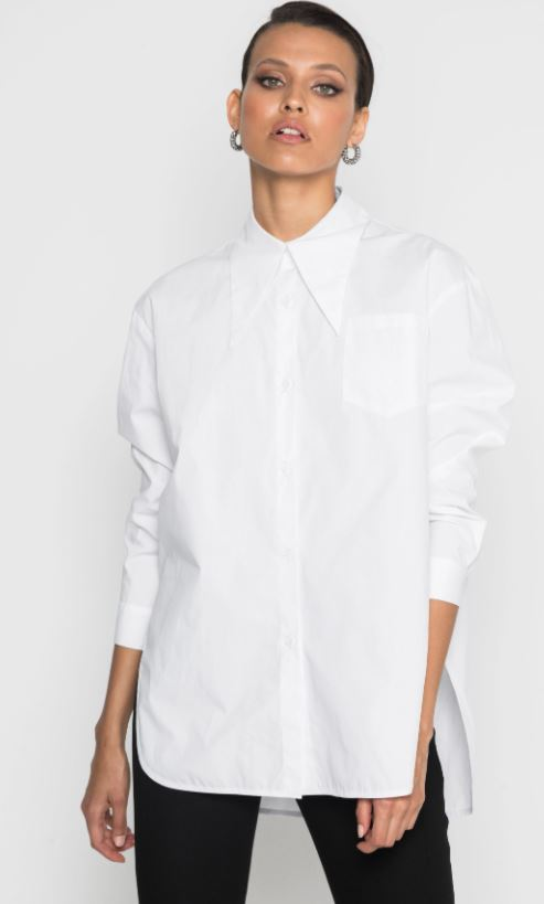 Mossman Forget Me Not Shirt in White