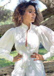 Mackenzie Mode Starlet Blouse in White
