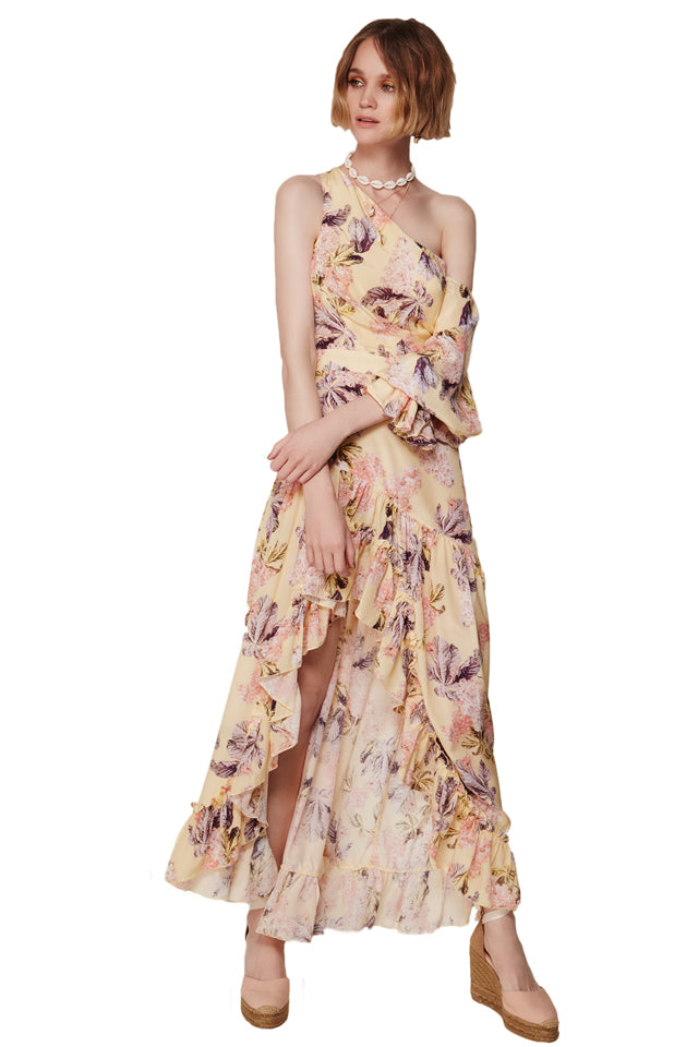 We Are Kindred Raye Maxi Dress in Lemon Blossoms