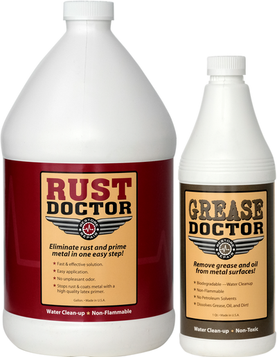 Rust Doctor - 1 Gallon + FREE Grease Doctor - 1 Quart