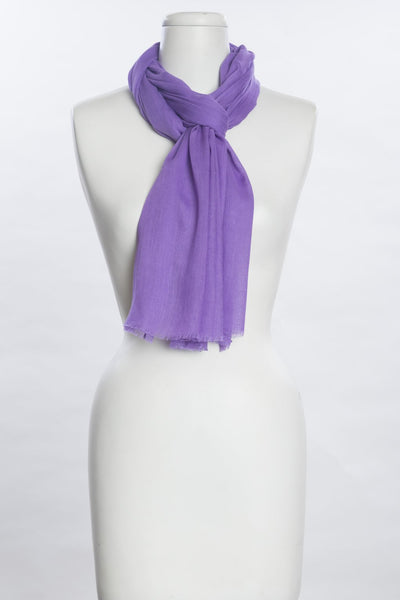 Solid Silk-Like Scarf - Orchid Purple