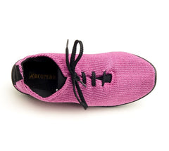 Arcopedico Lace Up Knit Shoe - Fuschia
