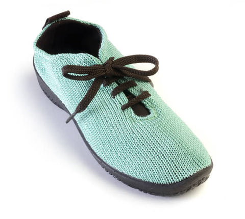 Arcopedico Lace Up Knit Shoe - Green Aqua