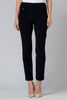 Image of Joseph Ribkoff Solid Tapered Leg Pant - Navy