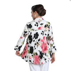 IC Collection Floral Print One-Button Jacket - Pink Multi