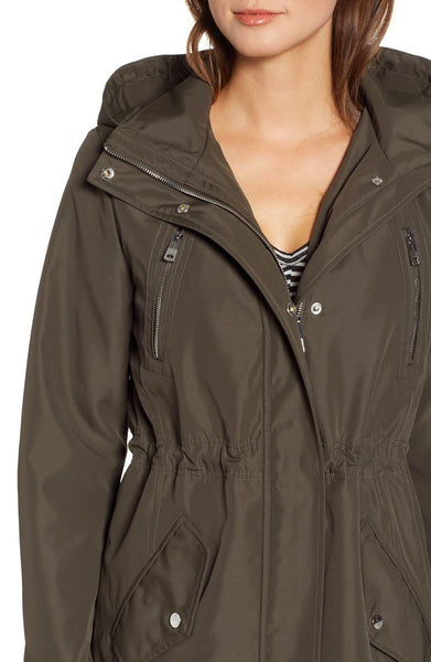 Kenneth Cole Soft Shell Anorak Jacket - Olive - Sugg. $140.00