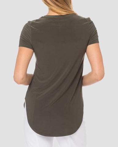Joseph Ribkoff Short Sleeve Tee - Avocado
