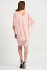 Image of Joseph Ribkoff Embellished Sheer Overlay Sheath Dress - Rose