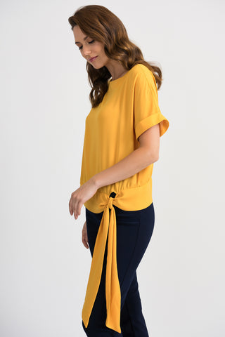 Joseph Ribkoff Side Tie Top - Yellow