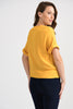 Image of Joseph Ribkoff Side Tie Top - Yellow