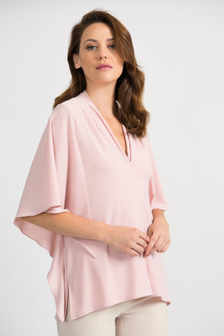 Joseph Ribkoff V-Neck Blouse - Rose