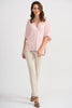 Image of Joseph Ribkoff V-Neck Blouse - Rose