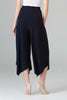 Image of Joseph Ribkoff Wide Leg Cropped Button Detail Gaucho - Midnight