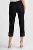 Image of Joseph Ribkoff Capri Pant with Latticework Hem - Black
