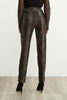 Image of Joseph Ribkoff Stretch Twill Leopard Plaid Pant - Brown/Black