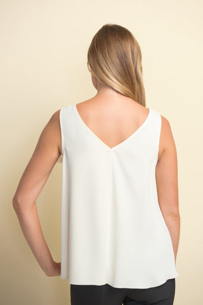 Joseph Ribkoff Sleeveless Bow Detail Top - Vanilla