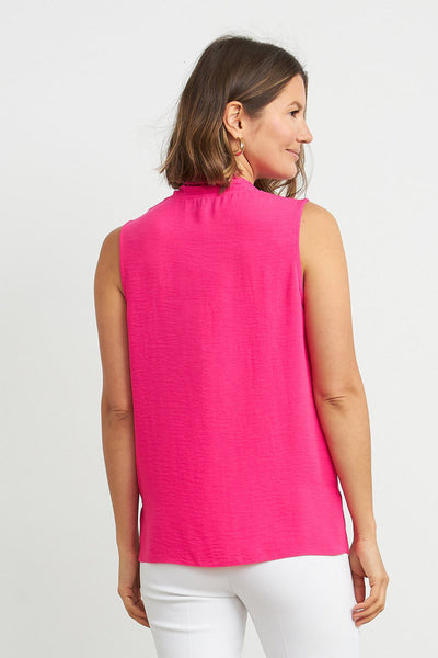 Joseph Ribkoff Sleeveless Button Front Top - Azalea