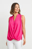 Image of Joseph Ribkoff Sleeveless Button Front Top - Azalea
