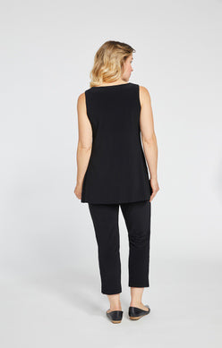 Sympli Sleeveless Nu Ideal Tunic - Black