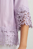 Image of Joseph Ribkoff Crochet Trim Top - Sweet Lilac