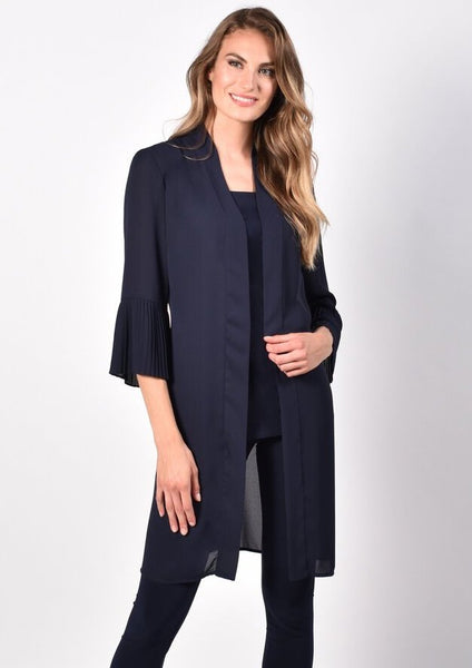 Frank Lyman Bell Sleeve Georgette Jacket - Twilight