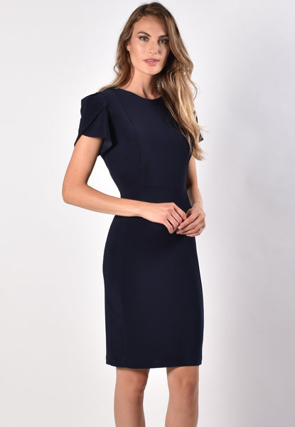 Frank Lyman Tulip Sleeve Dress - Navy