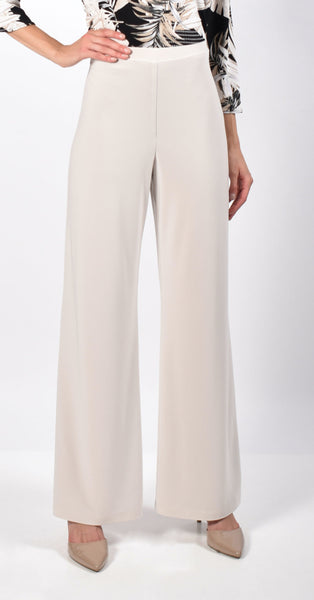 Frank Lyman Wide Leg Pull On Pant - Pearl