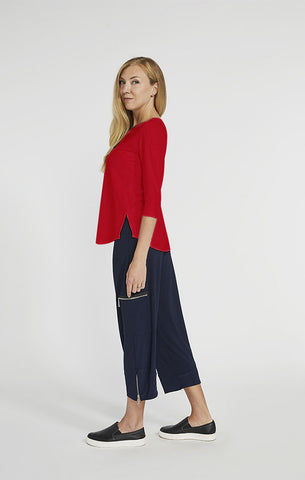 Sympli Go To Classic T 3/4 Sleeve - Poppy