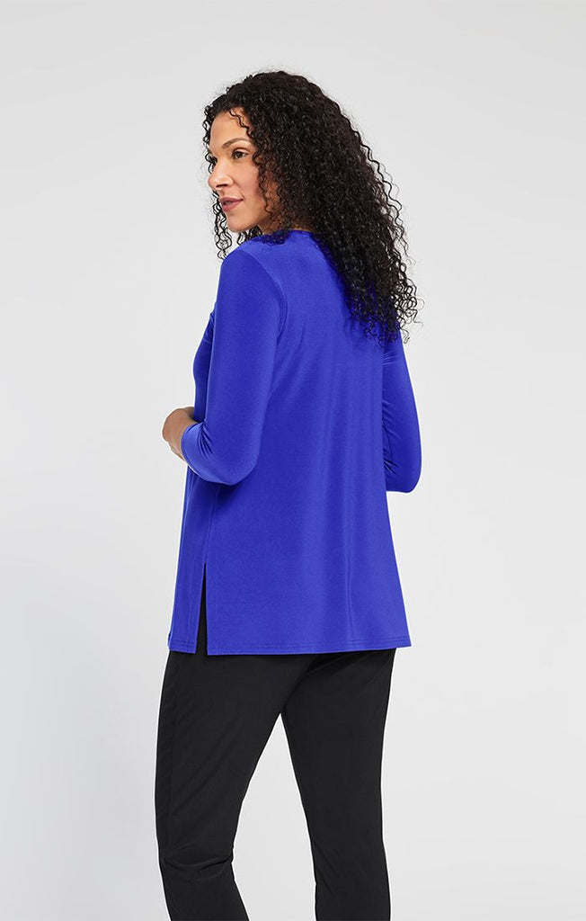 Sympli Halo Top 3/4 Sleeve - Lapis