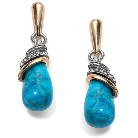 Brighton Turquoise Teardrop Earrings - Blue