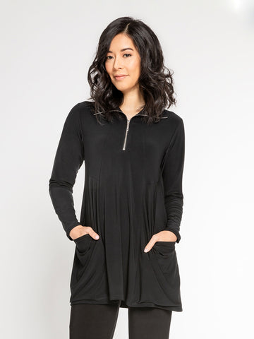 Sympli Double Take Tunic Long Sleeve - Black