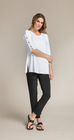 Sympli Icon Shift Tunic - White