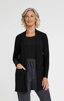 Sympli Go To Cardigan - Black