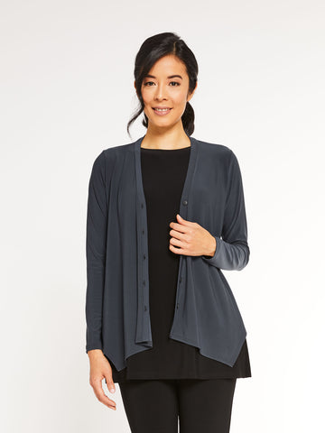 Sympli Icon Cardigan - Graphite