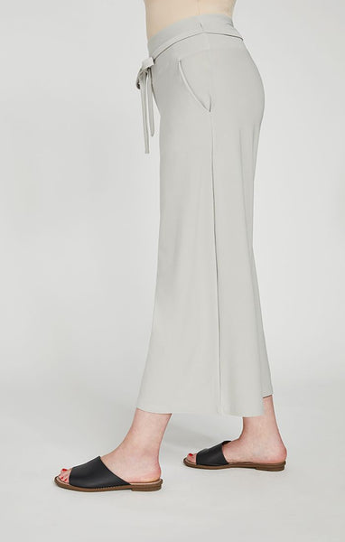 Sympli Wide Leg Trouser Crop - Sand