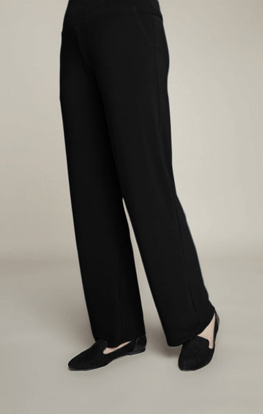 Sympli Straight Leg Pant - Black