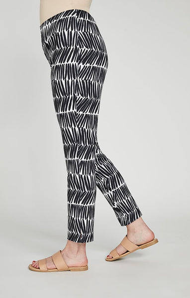 Sympli Narrow Pant Midi - Shifted Stripe