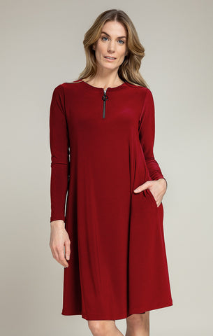Sympli Zest Dress - Brick