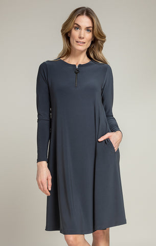 Sympli Zest Dress - Graphite