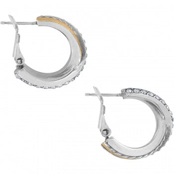 Brighton Rings Post Clip Hoop Earrings - Silver/Gold