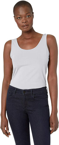 Tribal Classic Cotton Blend Tank - White