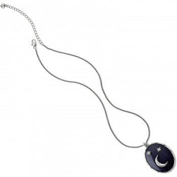 Brighton Halo Stargazer Necklace - Silver/Blue