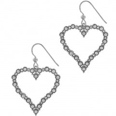 Brighton Twinkle Heart French Wire Earrings- Silver